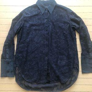 Rag and Bone men's lace shirt